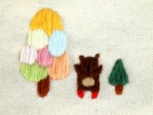 2013RURUの刺繍バッグ 麻生地 back up